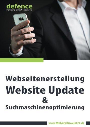 Webseitenerstellung, Website Update und Suchmaschinenoptimierung von WebsiteDiscount24.de