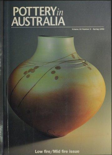 Pottery In Australia Vol 32 No 3 Spring 1993