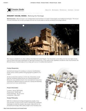 Minaret house, Noida