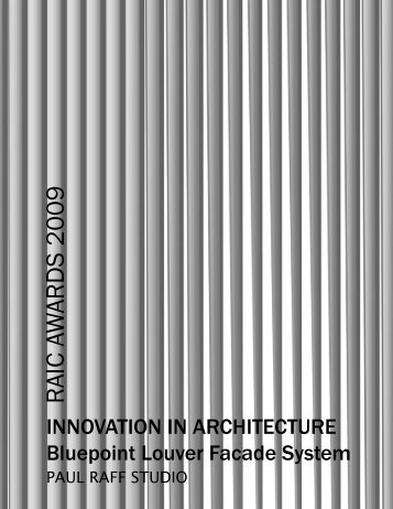 INNOVATION IN ARCHITECTURE Bluepoint Louver Facade System