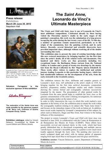 The Saint Anne, Leonardo da Vinci's Ultimate ... - Musée du Louvre