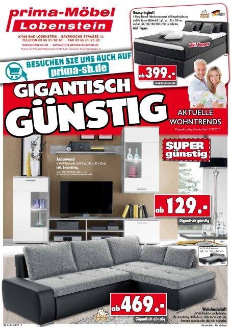 Aktuelle Wohntrends jetzt gigantisch günstig bei Prima Möbel in 07356 Bad Lobenstein!