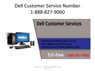 Dell Customer Service Number 18888279060