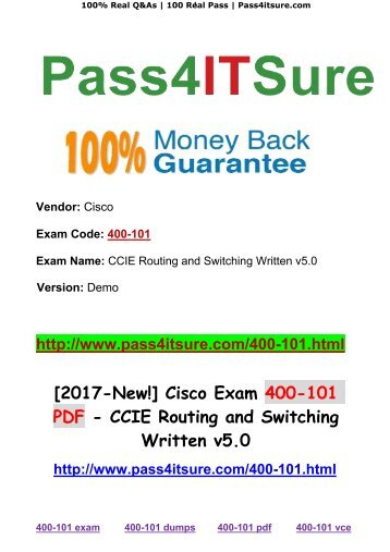 [2017-New!] Pass4itsure Cisco Exam 400-101 PDF 732 Q Share