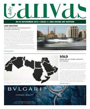 09-10 NOVEMBER 2012 I ISSUE 4 I ABU DHABI ART EDITION