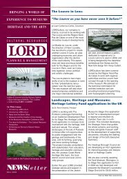 Fall 2005 Newsletter-Final.qxp - Lord Cultural Resources