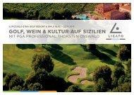 Golfreise mit Thorsten Oßwald: Golf, Wein und Kultur auf Sizilien 16.10. - 23.10.2017