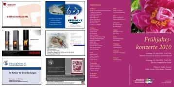 konzerte 2010 - OLW - Orchester Liechtenstein-Werdenberg