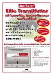 Sortenprogramm Elite-Transitfutter - Muskator-Werke GmbH