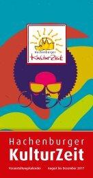 Hachenburger Kulturzeit Veranstaltungskalender 2. Halbjahr 2017