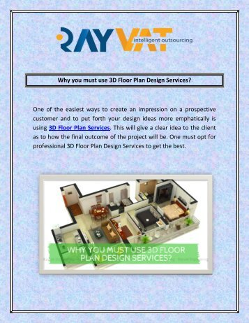 Why you must use 3D Floor Plan Design Services