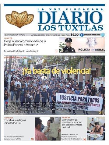 edición de diario los tuxtlas del día 03 de agosto de 2017