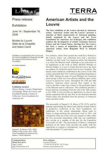 American Artists and the Louvre - Musée du Louvre