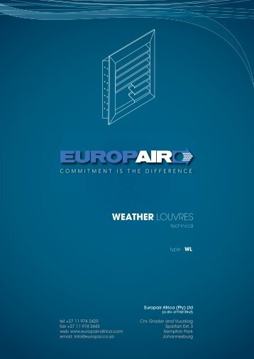 WEATHER LOUVRES - Europair