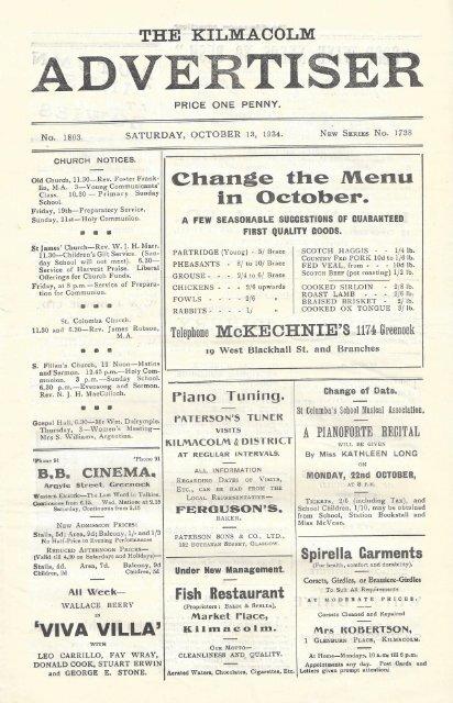 13 October 1934