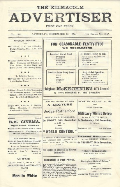 15 December 1934