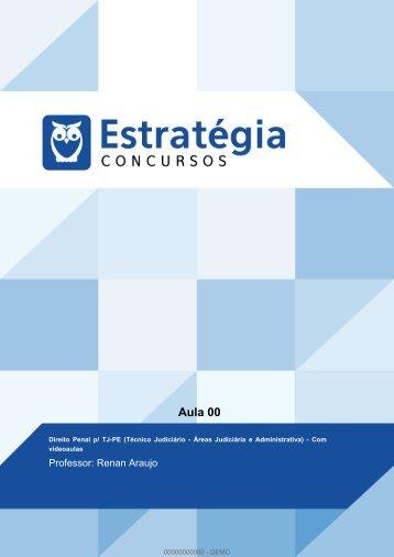 00 - AULA 00 - Direito Penal - TJ PE (Analista e Técnico)