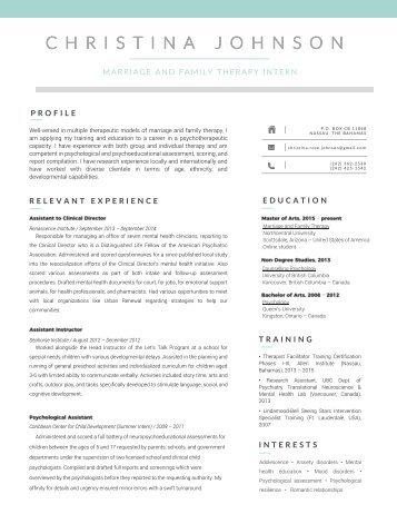 CRJ MFT Resume 2017