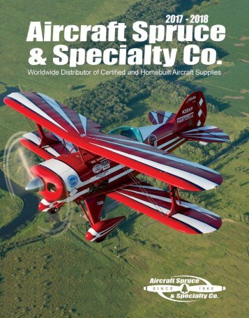 2017-2018 Aircraft Spruce Catalog