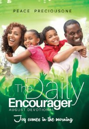 THE DAILY ENCOURAGER - AUGUST EDITION