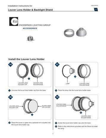 Install the Louver Lens Holder - Tech Lighting