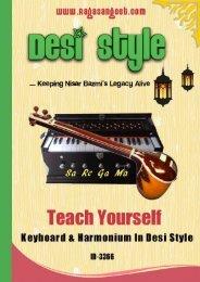 Harmonium Sargam Lessons ebook ID-4466 By www RagaSangeet com