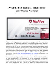 Mcafee Antivirus Customer Service Toll-Free Number