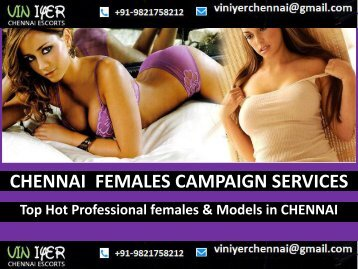 Hot Females Models Services Chennai- VINIYER