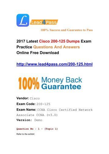 2017 Latest Cisco 200-125 Dumps Questions Shared