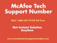 Mcafee Antivirus Tech Support @ www.McafeeTechSupportNumber.com