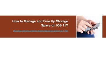 How to Manage Storage Space on iOS 11