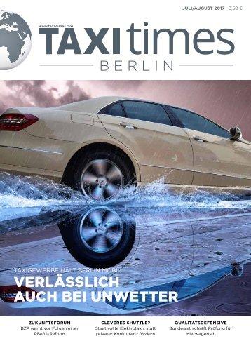 Taxi Times Berlin - Juli/August 2017