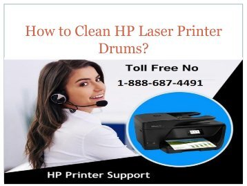 How to Clean HP Laser Printer Drums? 8886874491