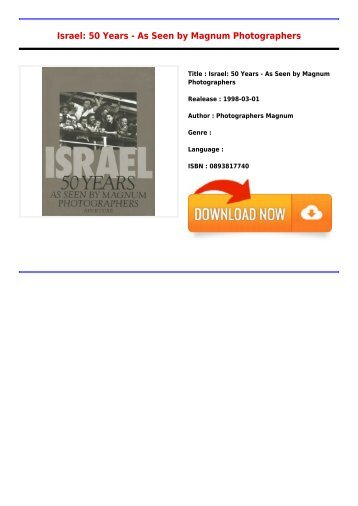 Read Free E-Book Israel  50 Years - As Seen by Magnum Photographers Free Best Sellers