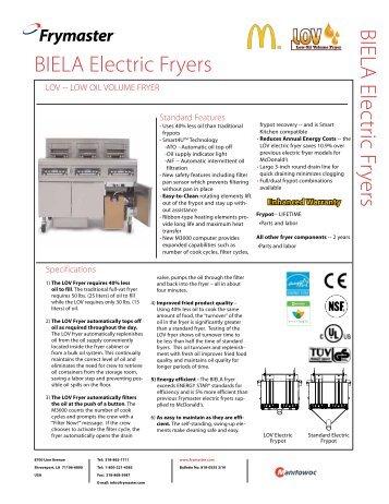 BIELA Electric Fryers - McDonald's