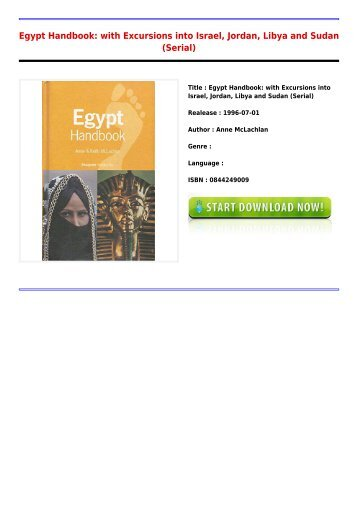 Downloads E-Book Egypt Handbook  with Excursions into Israel Jordan Libya and Sudan Serial Full Online
