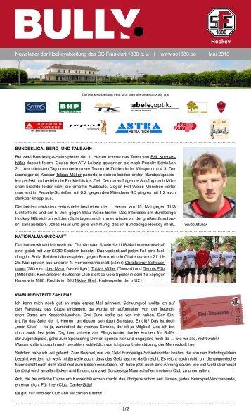 Bully Newsletter Mai 2010 - SC Frankfurt 1880 eV