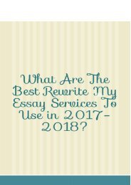 What Are the Best Rewrite My Essay Services to Use in 2017-2018?