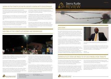 The Sierra Rutile Review 2 2013