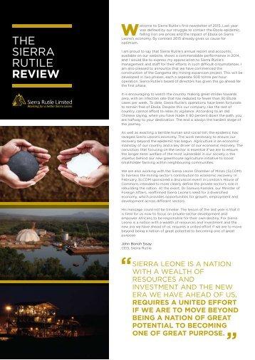 The Sierra Rutile Review 1 2015