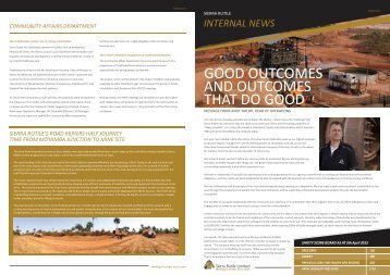 Sierra Rutile Staff Newsletter 2