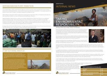 Sierra Rutile Ltd staff newsletter 3