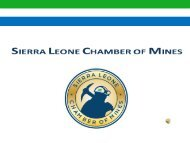 The launch of the Sierra Leone Chamber of Mines