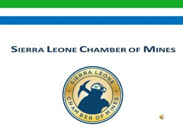 Invest sierra leone 2017 information for Chamber of mines
