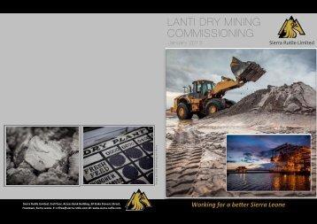 Lanti Dry Mining Commissioning - Sierra Rutile Ltd