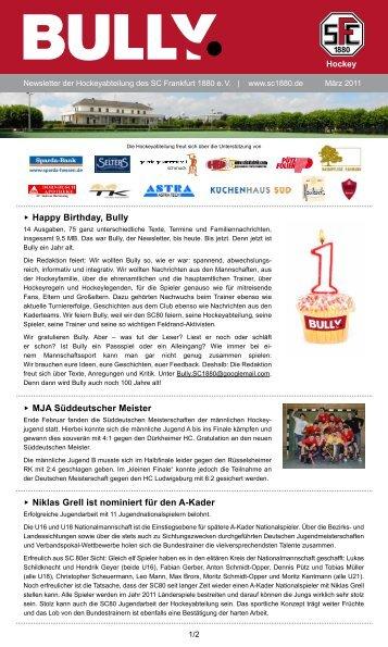 Bully Newsletter März 2011 - SC Frankfurt 1880 eV