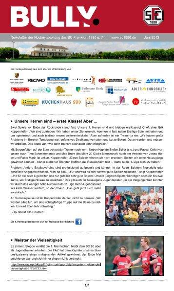 Bully Newsletter Juni 2012 - SC Frankfurt 1880 eV