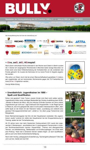 Bully Newsletter April 2012 - SC Frankfurt 1880 eV