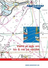 Værd at vide om lov & ret på vandet - Søsportens Sikkerhedsråd