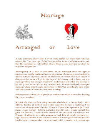 Arranged marriage essay